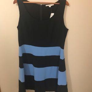 LOFT Dresses - NWT Loft Dress Black and Blue